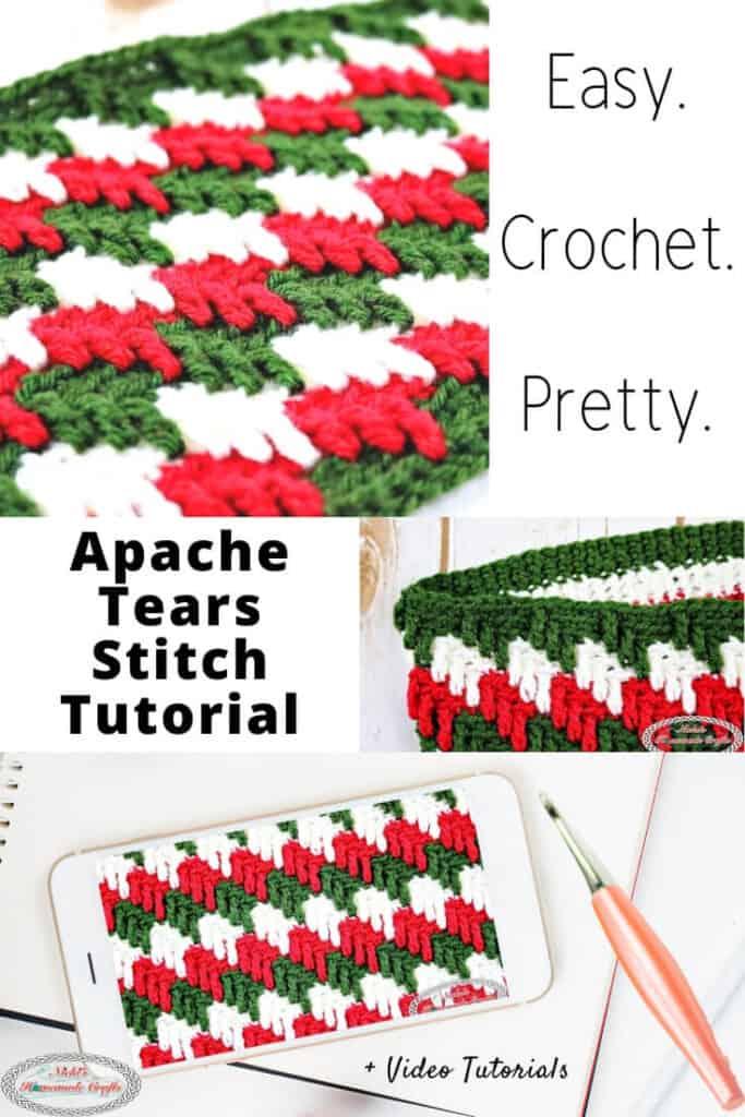 Apache Tears Crochet Stitch Tutorial