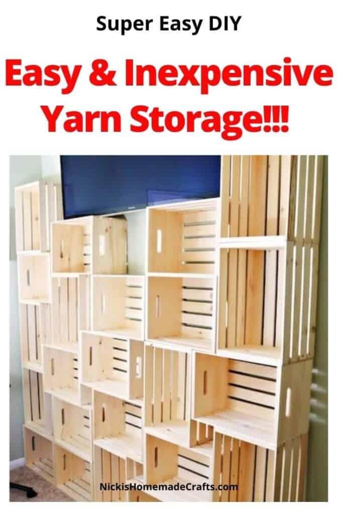 Crochet yarn Storage shelves DIY