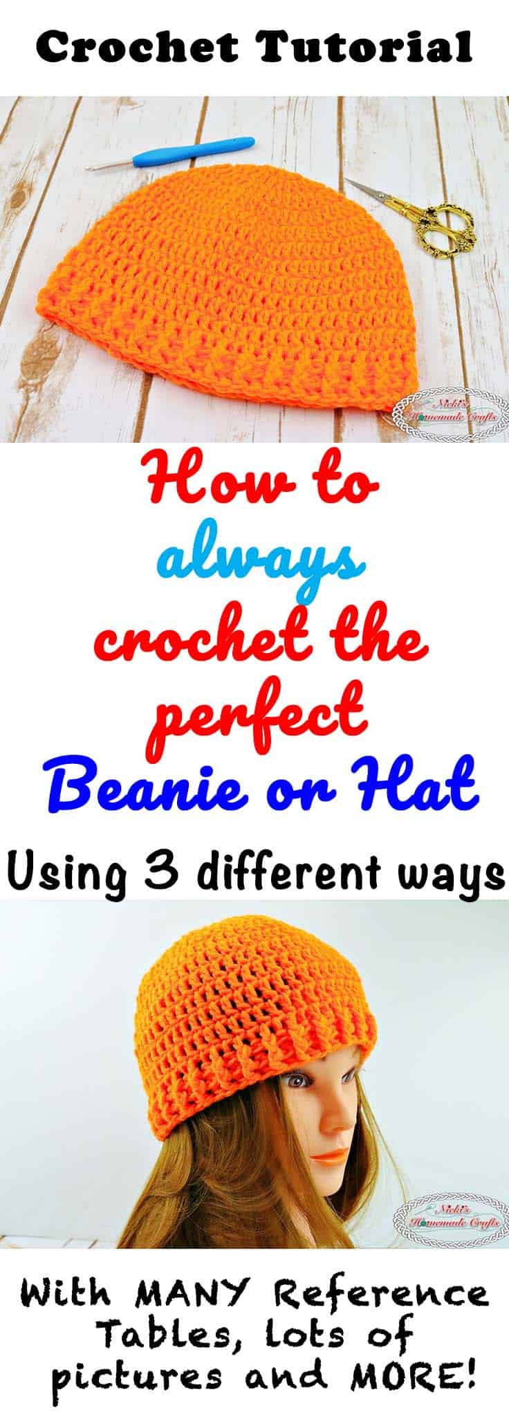 crochet the perfect beanie or hat