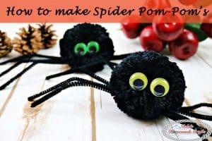 How to make a Spider Pom-Pom – Halloween DIY Tutorial