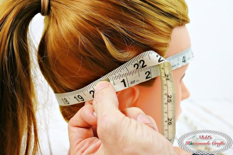 measure head circumference for crochet hat pattern