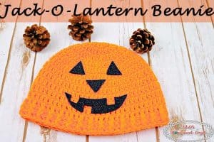 Jack-O-Lantern Beanie – Free Crochet Pattern