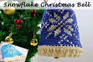 Snowflake Christmas Bell – Free Crochet Pattern