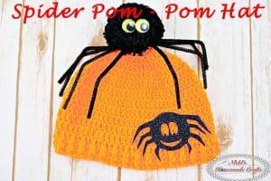 Spider Pom-Pom Hat – Free Crochet Pattern