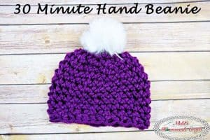 30 Minute Hand Beanie – Free Crochet Pattern