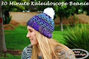 30 Minute Kaleidoscope Beanie – Free Crochet Pattern