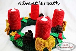 Advent Wreath for Christmas – Free Crochet Pattern