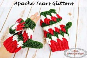 Apache Tears Glittens – Free Crochet Pattern