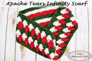 Apache Tears Infinity Scarf – Free Crochet Pattern