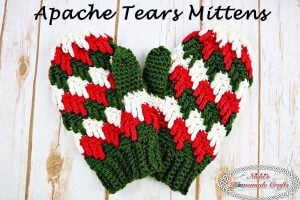 Apache Tears Mittens – Free Crochet Pattern – Crochet Along Part 3