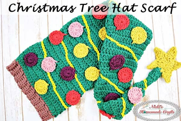 Christmas Tree Hat Scarf Crochet Along Cal Part 1 Nickis