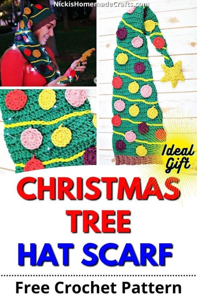 Crochet Christmas Tree Hat Pattern