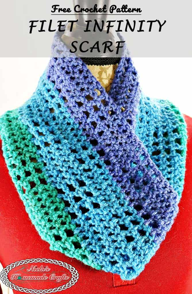 infinity scarf crochet. fasten off and weave in all the ends. infinity scarf crochet