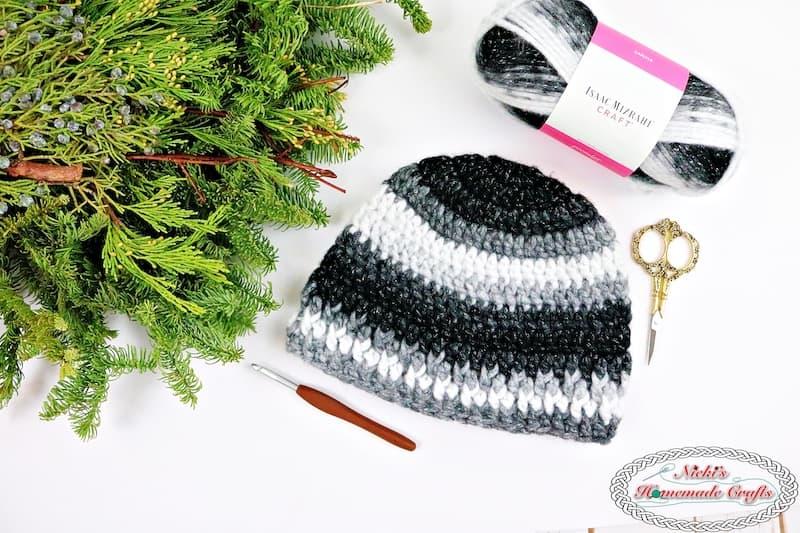 Hubby's Home Beanie - a Free Crochet Pattern