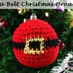 Santa Belt Christmas Ornament - Free Crochet Pattern by Nicki's Homemade Crafts #crochet #ornament #christmas #winter #tree #free #crochet #pattern #belt