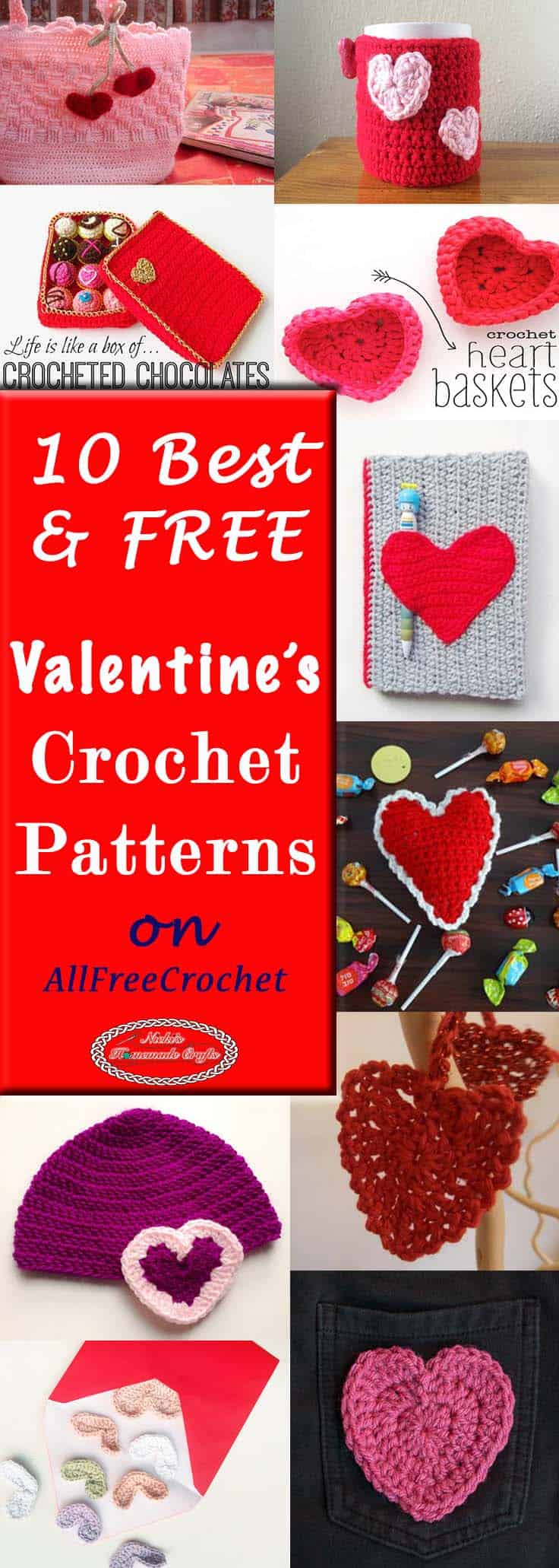 10 best free valentines crochet pattern on allfreecrochet by nickis homemade crafts free crochet - Free Valentines