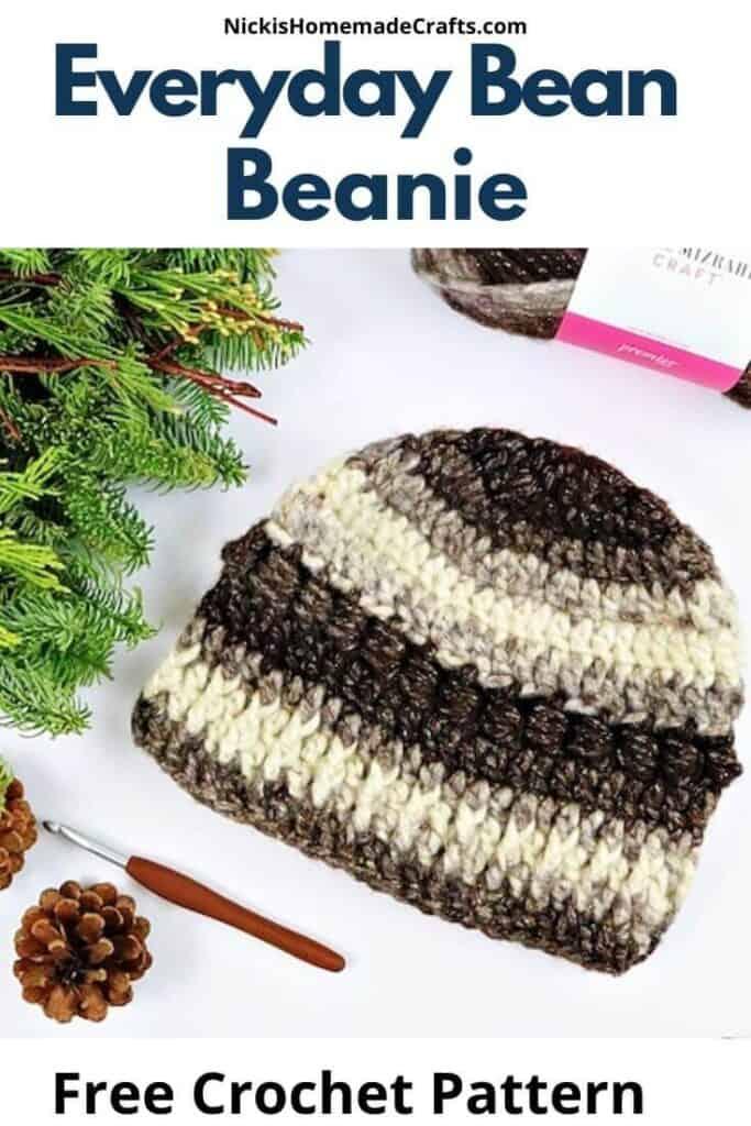 Crochet Everyday Bean Beanie