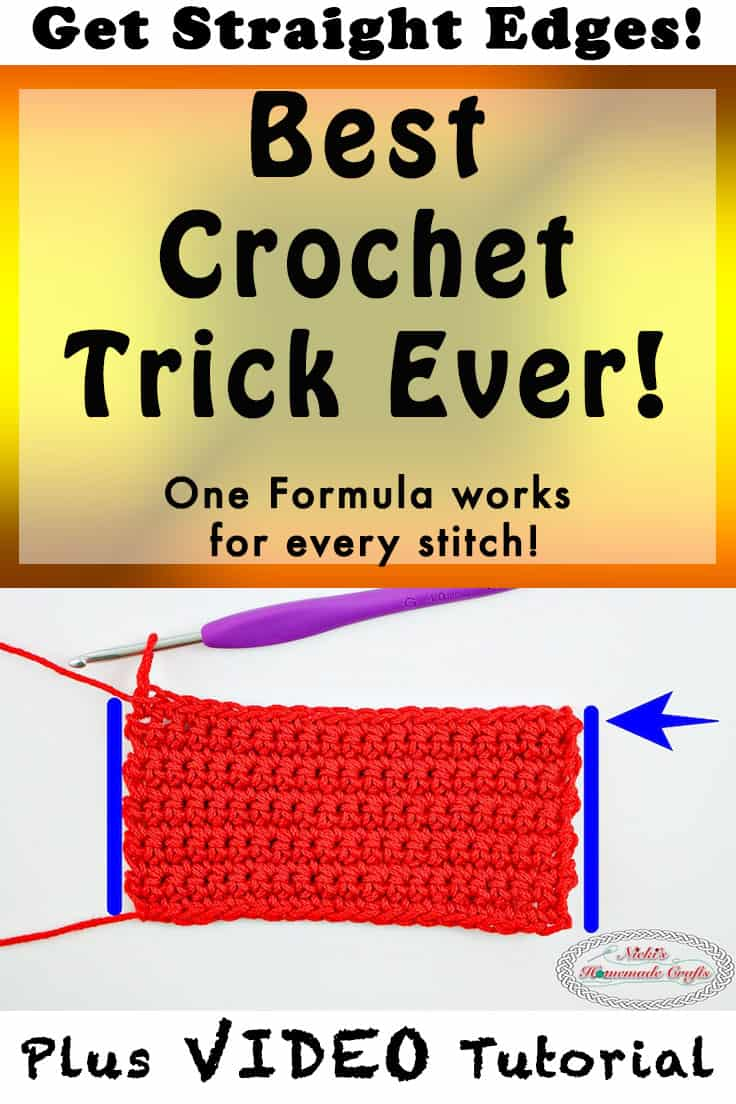 Crochet straight edges every time