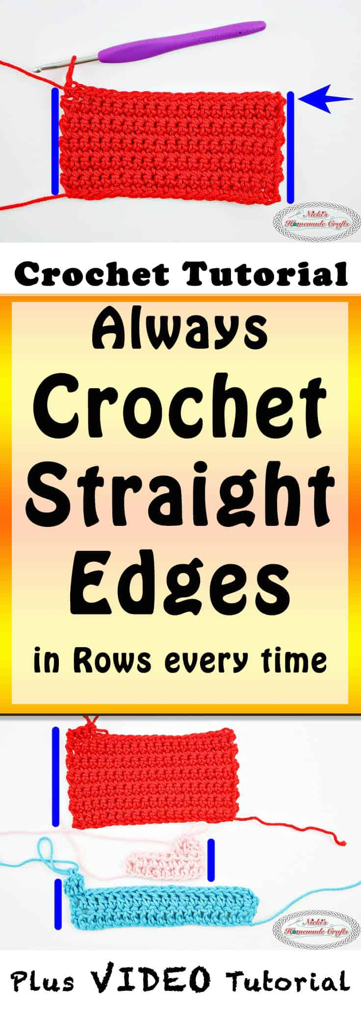 crochet straight edges in crochet