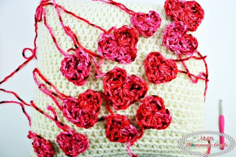 Flying Hearts made without Sewing or Slip Stitches