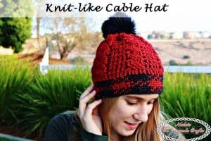Knit-like Cable Hat – Free Crochet Pattern