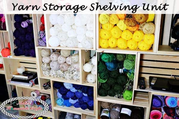 Yarn storage in wooden crates