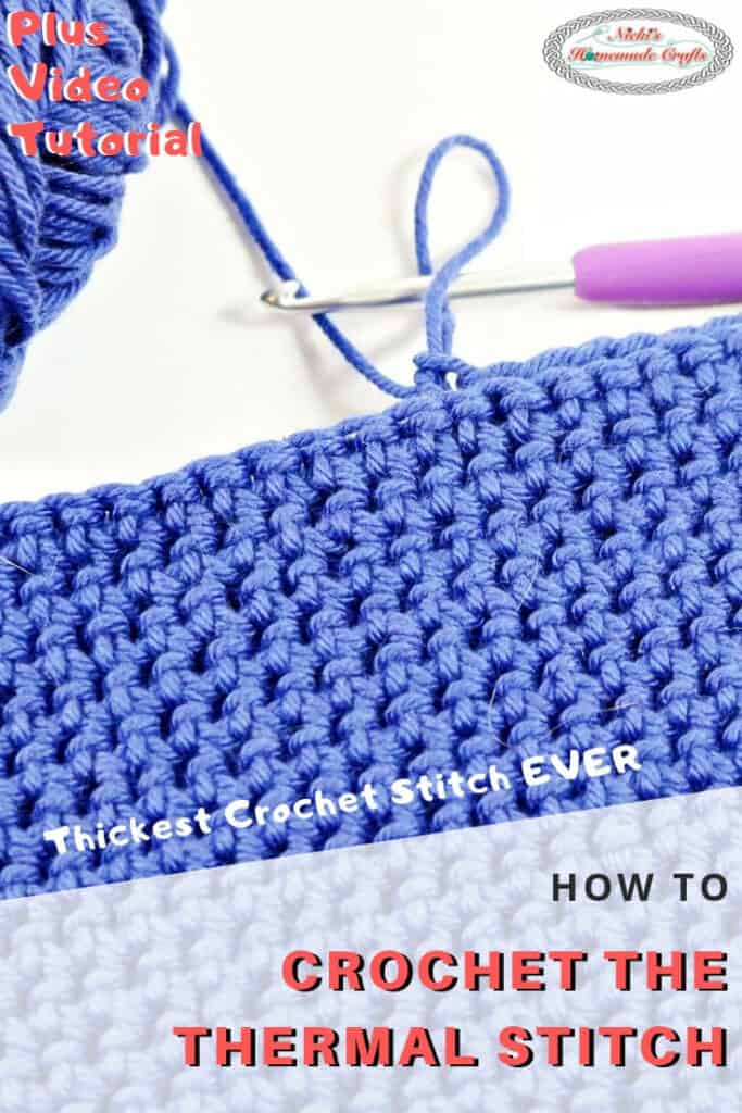 Double Thick Crochet Stitch - Thermal Stitch
