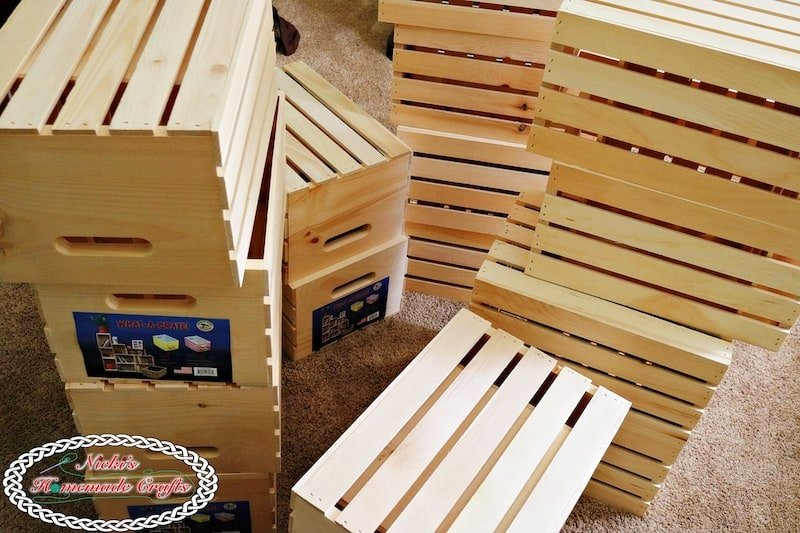 Wooden Crates used to create a storage unit