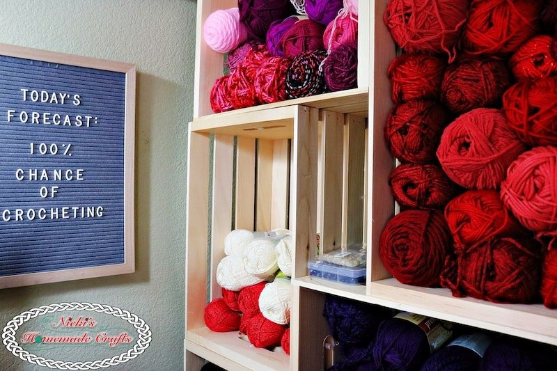 How to create your own DIY Yarn Storage Shelving Unit