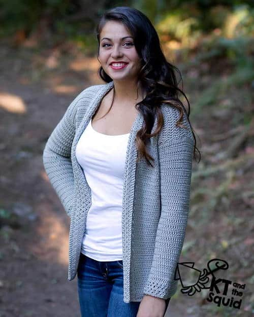 Grey Cardigan which is part of a collection including 10 Free Crochet Cardigan Patterns all from AllFreeCrochet compiled by Nicki's Homemade Crafts - Crochet Cardigan, Crochet Jacket, Crochet Sweater, Crochet Wrap, Crochet Shawl