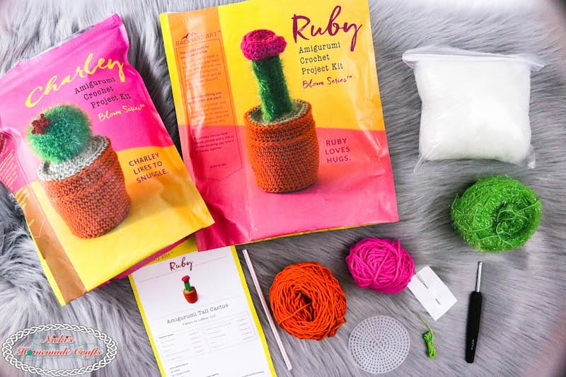Crochet your own Cactus Kits for Ruby & Charley. This Review explains how to make them and how to make them look unique and fit for your home or as a gift for a loved one. Mother's Day, Flowers, Gift, Present, Home Decor, Home DIY