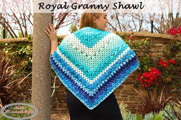 Simple Crochet Royal Granny Shawl – Free Pattern