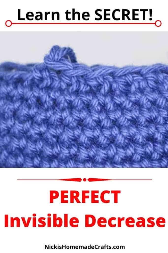Invisible Single Crochet Decrease