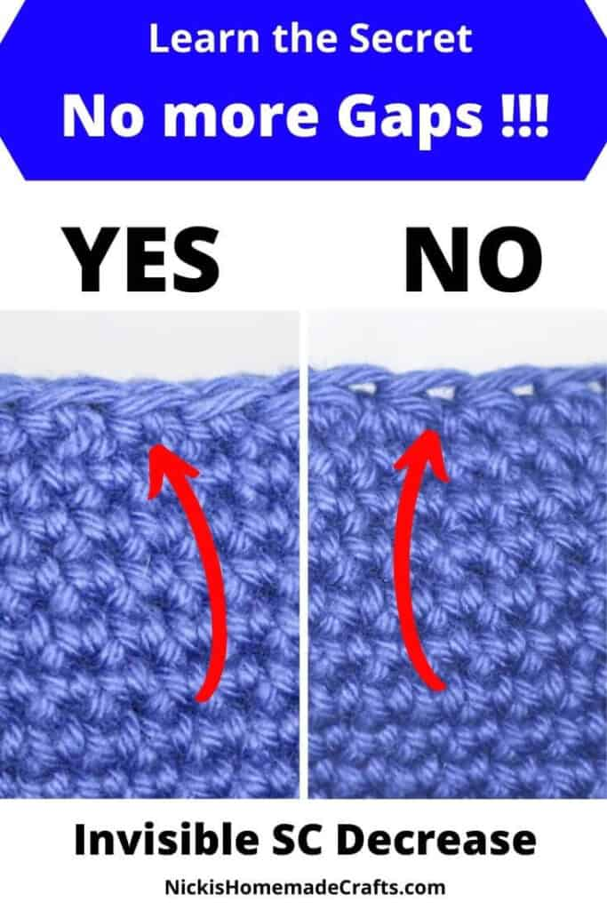 Invisible Single Crochet Decrease Tutorial