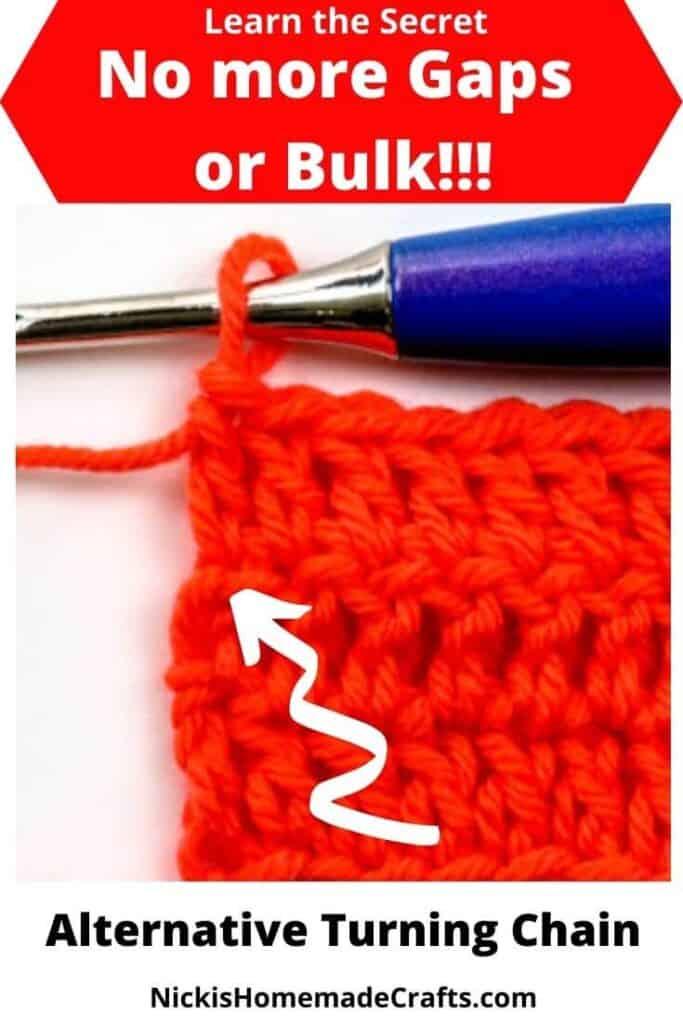 No gaps in crochet Alternative Turning Chain
