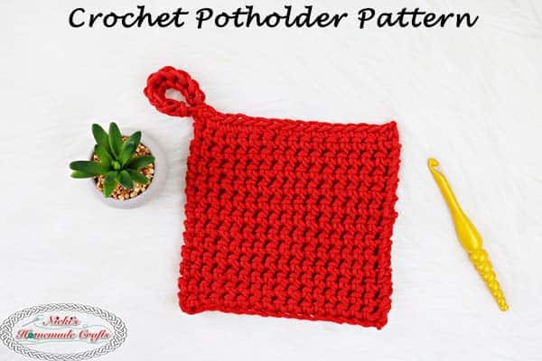 Free Crochet Potholder Pattern Using Thermal Stitch Nickis
