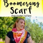 How to crochet a scarf as a boomerang