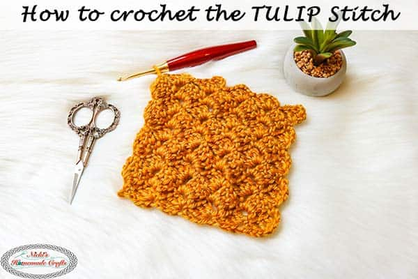 Crochet Straight Box stitch also known as the tulip stitch