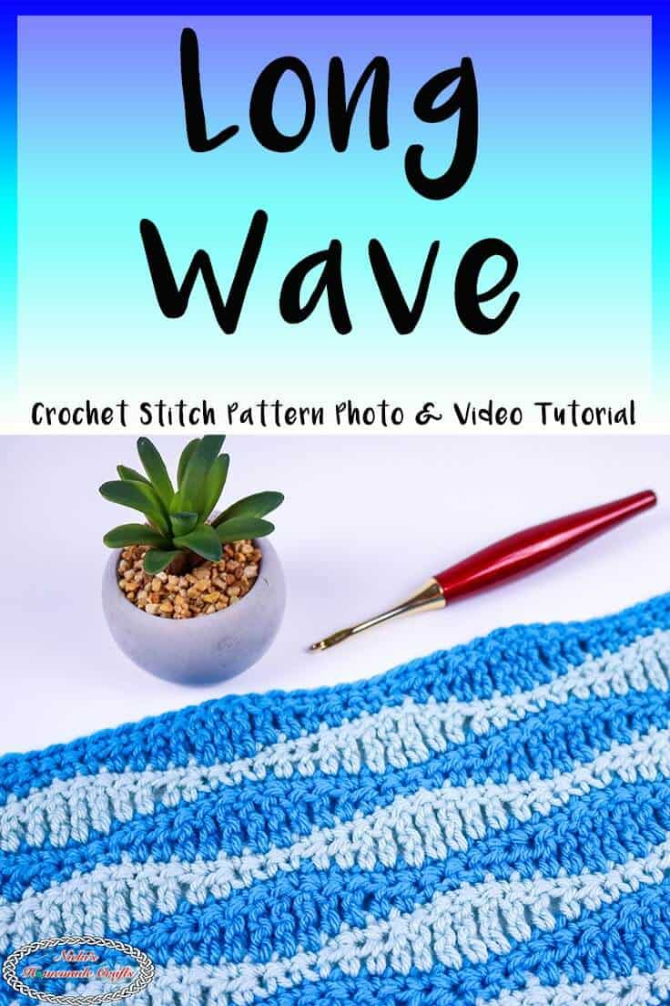 Long Wave Crochet Stitch Pattern Tutorial
