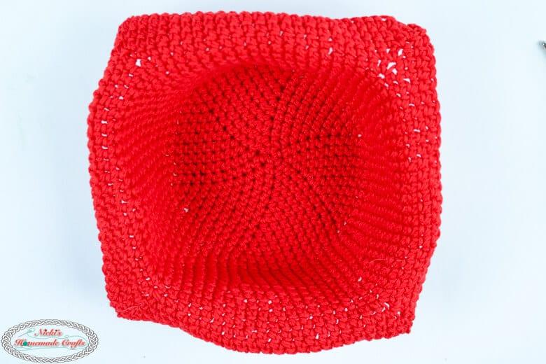 Inside of Crochet Bowl Cozy pattern