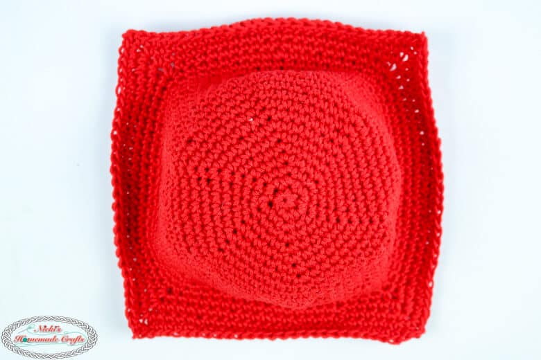 Bottom of Easy Crochet Bowl Cozy