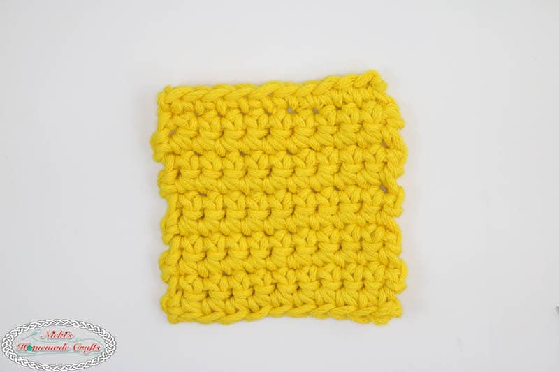 Mystery Crochet Along Part 1 yellow square