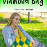 Crochet Patchwork Diamond Bag