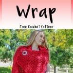 romantic crochet wrap pattern for free for beginners