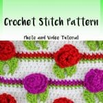 Rosebud Crochet Pattern Video and Photo Tutorial