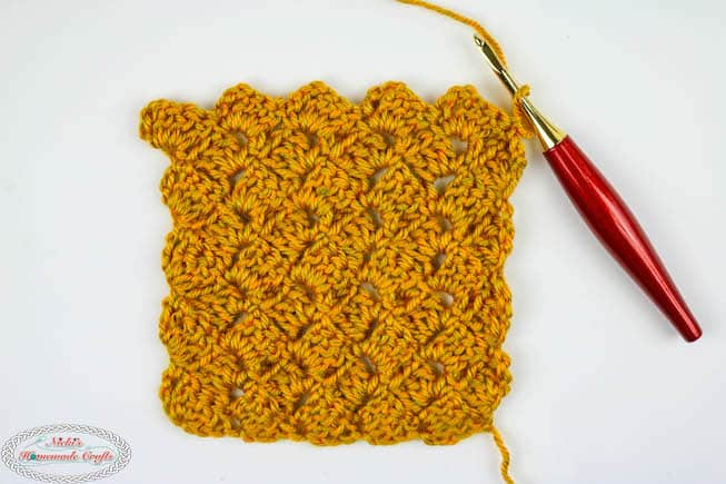 Crochet the Tulip Stitch horizontally like C2C