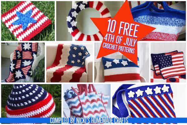 Free Crochet Patterns For A Patriotic 4th Of July With American Flags