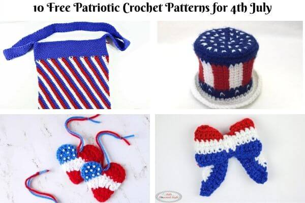 10 Free Patriotic Crochet Patterns for 4th July Celebrations