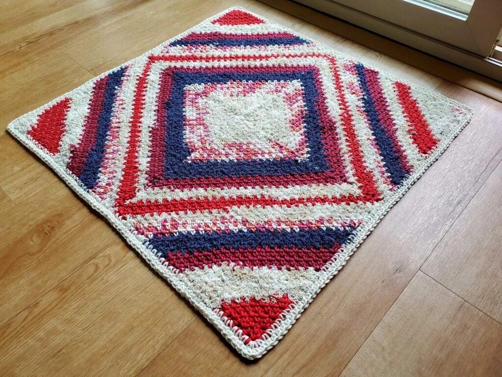 C2C Square Crochet Rug Pattern