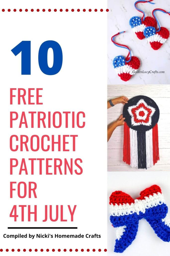 list of crochet patterns for 4th July celebrations